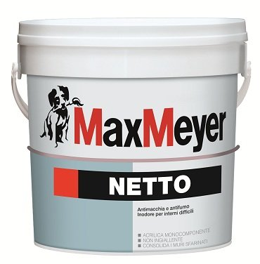 Netto 0,75 Lt.  Pittura Murale  Antimacchia  Max-Meyer